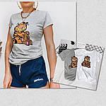 Женская футболка, 100% хлопок, р-р С-М; Л-ХЛ (серый), фото 2