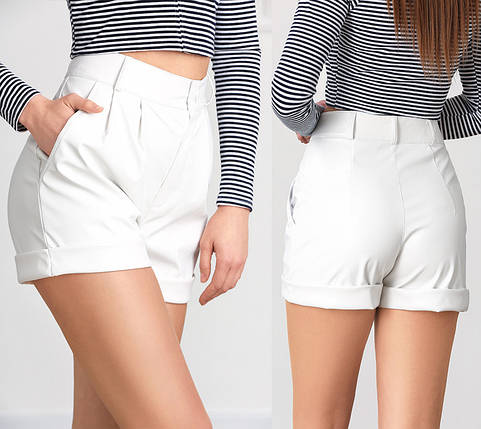 "Кожаные женские шорты ""Jolly"", фото 2"