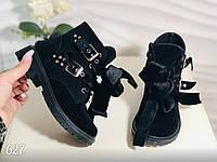 Стильные детские ботинки черного цвета