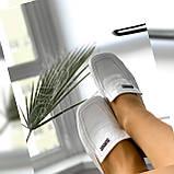 Женские белые кожаные мюли с квадратным носком, фото 8