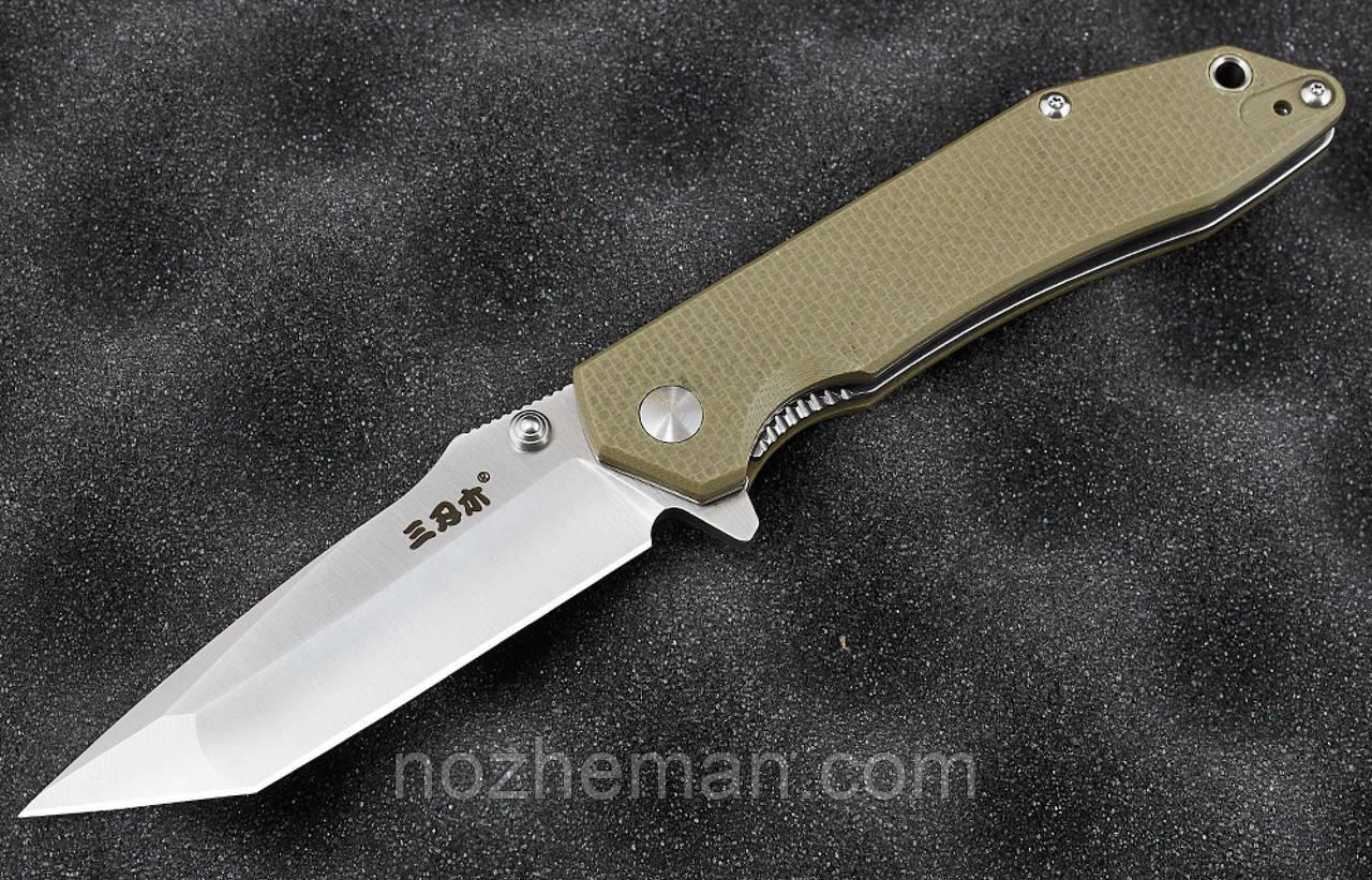 Складной нож Каратель 3, с тантоидной формой клинка и замком liner lock