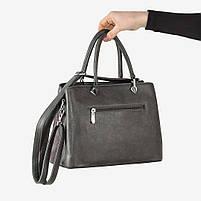 Женская сумка серая, фото 2
