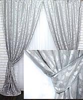 """Комплект готовых штор из ткани лён """"Вензель"""" Код 534ш 1,5*2,70 30-290, фото 1"""