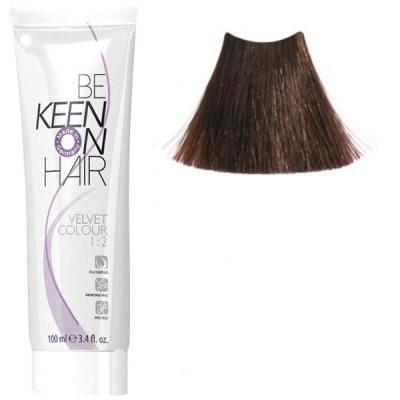Крем краска для волос без аммиака  KEEN Velvet Colour 5.3 шатен золотистый 100мл.