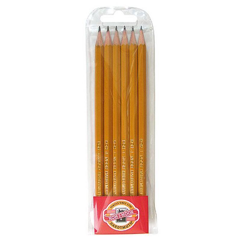 Набор графитных карандашей 1570,  2Н-2В, 6 шт. 01836
