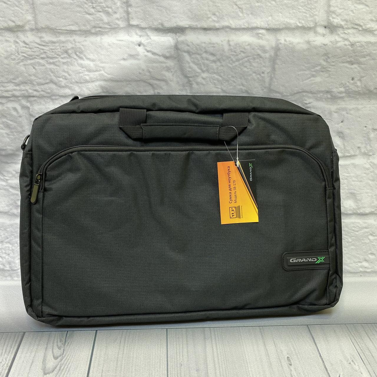 Сумка для ноутбука SB-179 черная, размер 17.3
