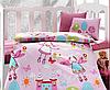 Детский комплект постельного белья для новорожденных в кроватку, Cotton Box Masal Pembe, ранфорс, Турция