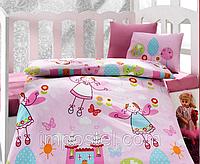 Детский комплект постельного белья для новорожденных в кроватку, Cotton Box Masal Pembe, ранфорс, Турция, фото 1