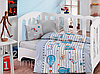 Детский комплект постельного белья для новорожденных в кроватку, Cotton box Cezgin, ранфорс,Турция
