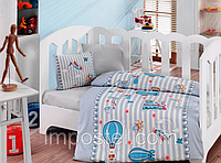 Детский комплект постельного белья для новорожденных в кроватку, Cotton box Cezgin, ранфорс,Турция, фото 1