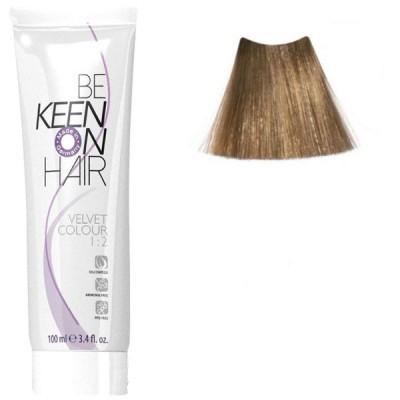 Крем краска для волос без аммиака  KEEN Velvet Colour 8.0 блондин 100 мл.
