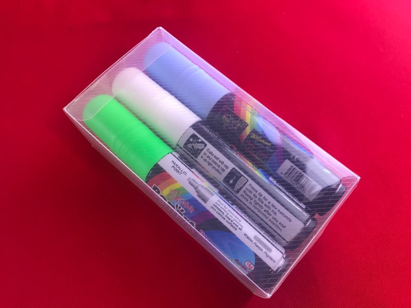 Маркери для LED дошки Fluorescent chalk marker (6 штук)