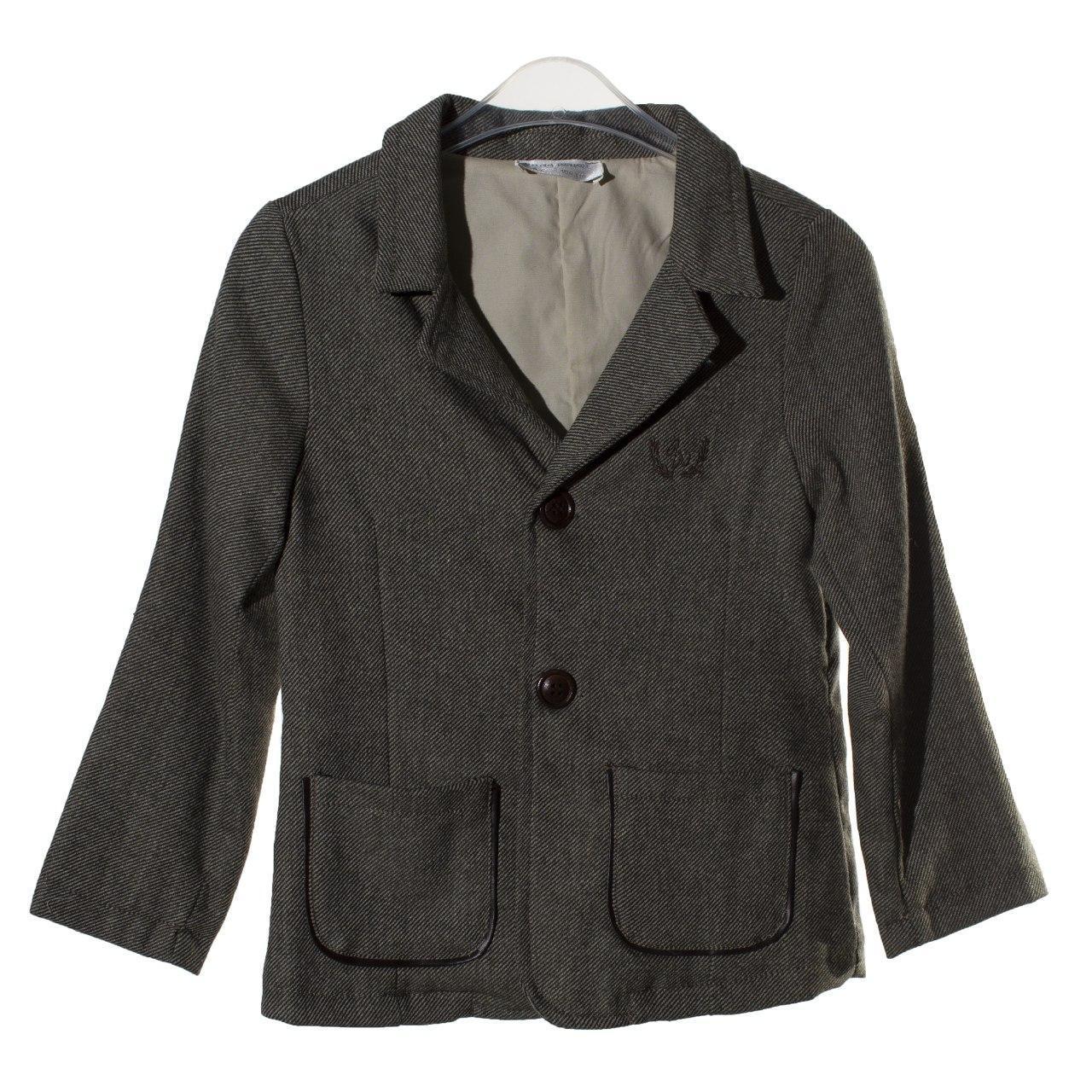 Утепленный пиджак с шерстью  для мальчика, размеры 3 года, 4, 5, 6, 7, 8 лет