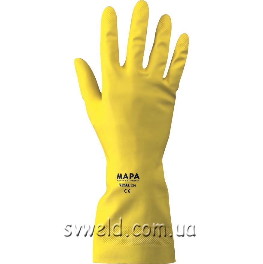 Рукавиці VITAL кислото-лугостійкі,(К50%,Л50%,) р.10