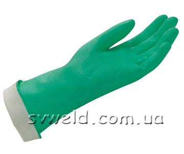 Рукавиці  Nіtrіlo хім.стійкі зелені(Євро),9-9,5
