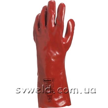 Рукавички РVC7335 з ПВХ (червоні, 35см,р.10)