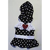 MonkeyDaze черное платье в белый горошек, одежда для собак, M