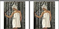Женский махровый  набор для сауны с тапочками Philippus, Турция, фото 1