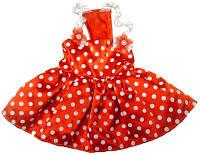 MonkeyDaze красное платье, одежда для собак, S