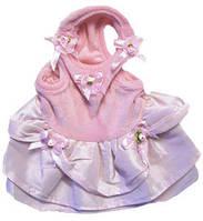 MonkeyDaze розое велюровое платье, одежда для собак, M