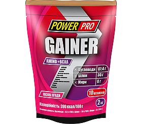 Високобілковий Гейнер Power Pro Gainer 2 kg