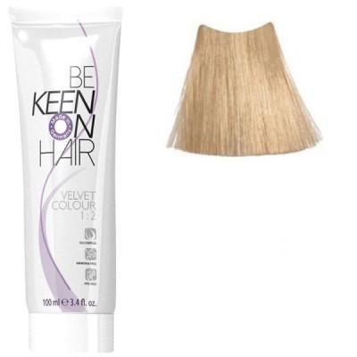 Крем краска для волос без аммиака  KEEN Velvet Colour 10.0 ультра-светлый блондин 100 мл.