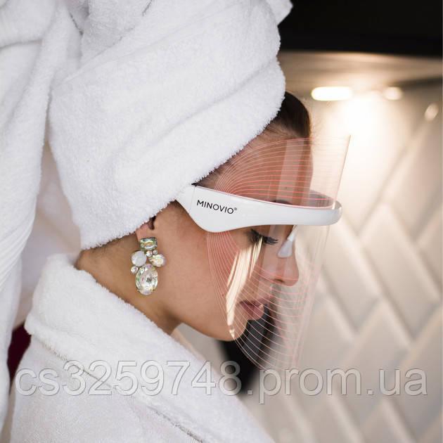 LED маска для світлотерапії особи (3 кольори) Minovio