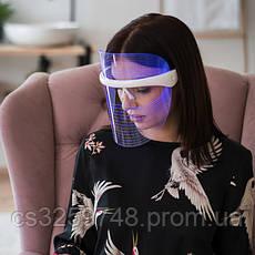 LED маска для світлотерапії особи (3 кольори) Minovio, фото 2