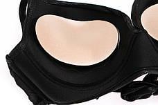Вкладыши пуш ап Push up в бюстгальтер с силиконовой поверхностью вставки подушечки бежевые 405-34-1, фото 3
