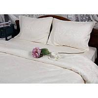 Двуспальный евро комплект постельного белья Deco Bianca, Krem,жаккардовый сатин,2 наволочки, Турция, фото 1