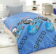 Постельное белье для подростков Eponj Home, Jet Araba Mavi, ранфорс, Турция