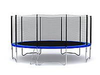 Батут FunFit 465 см с сеткой и лесенкой