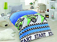 Постельное белье для подростков Eponj Home, Jetmotor Mavi, ранфорс, Турция