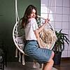 Трикотажная юбка карандаш Афина цвет: беж, зелёный, серый размер 44-54, фото 7