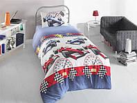 Постельное белье для подростков Eponj Home, Rali Mavi, ранфорс, Турция