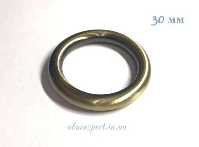 Кольцо литое  30 мм, толщ. 5 мм, Тертый антик, фото 2