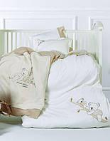Постельное белье для новорожденных с игрушкой Karaca Home - Koala (5 предметов), ранфорс, Турция, фото 1