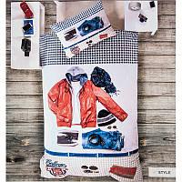3D Подростковое полуторное постельное белье Deco Bianca, Style , ранфорс, Турция, фото 1