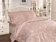 Двуспальный евро комплект постельного белья First Choice, Sveta Pudra, сатин, Турция