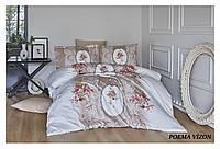 Двуспальный евро комплект постельного белья First Choice, Poema Vizon, сатин, Турция, фото 1