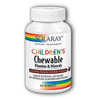Solaray Children's Chewable Vitamins and Minerals 120 Chewables, фото 1