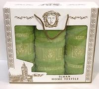 Набор из 3-ёх махровых полотенец  50х90см (2шт), 70х140см (1шт), 100% хлопок, Versace,Турция