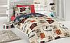 Подростковый полуторный комплект постельного белья Cotton Box Travel, ранфорс, Турция,