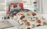 Подростковый полуторный комплект постельного белья Cotton Box Travel, ранфорс, Турция,, фото 1