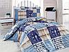 Подростковый полуторный комплект постельного белья Cotton Box Private, ранфорс, Турция
