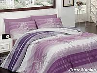 Двуспальный двусторонний евро комплект постельного белья First Choice Cemre Murdum, ранфорс, Турция, фото 1