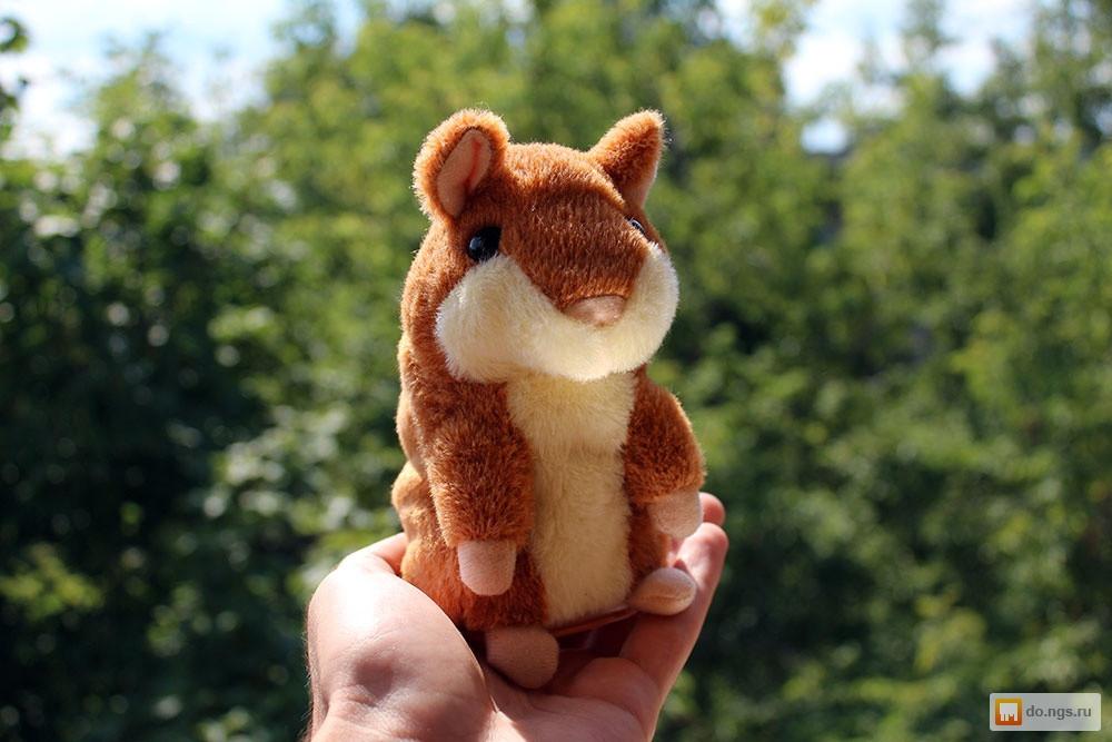 Говорящая мягкая игрушка - Хомяк тёмно - коричневого цвета