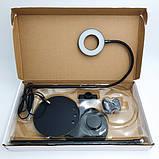 Штатив держатель (гибкий) для телефона микрофона и кольцо с LED подсветкой, набор блогера, фото 8