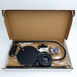 Штатив держатель (гибкий) для телефона микрофона и кольцо с LED подсветкой, набор блогера, фото 7