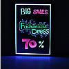 Светодиодная светящаяся вывеска / Led доска для рекламы 50х70, фото 3